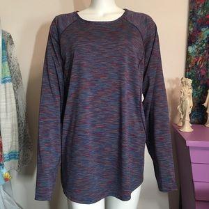 Tek Gear dry workout long sleeve purple multi top.
